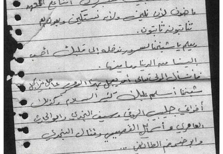 Estados Unidos desclasificó documentos personales de Osama Bin Laden, entre ellos algunas cartas a sus esposas. (EFE)