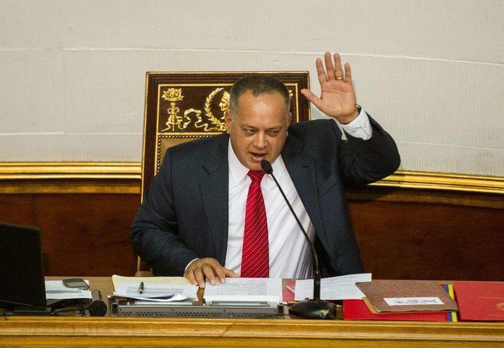 El presidente del Parlamento de Venezuela, Diosdado Cabello, afirmó que una vez más se cumplió 'a la patria y al pueblo' con la aprobación del estado de excepción en la frontera con Colombia. (EFE)