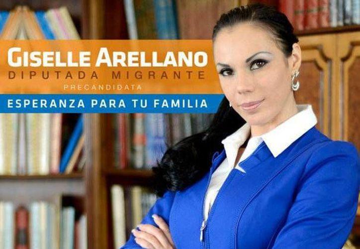 Imagen de un promocional de la precandidatura de Giselle Arellano. (mx.noticias.yahoo.com)