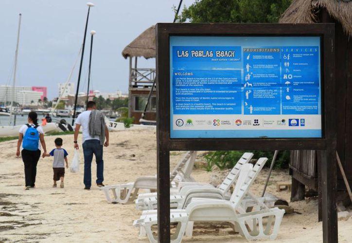 La certificación de la playa será para dos años. (Jesús Tijerina/SIPSE)