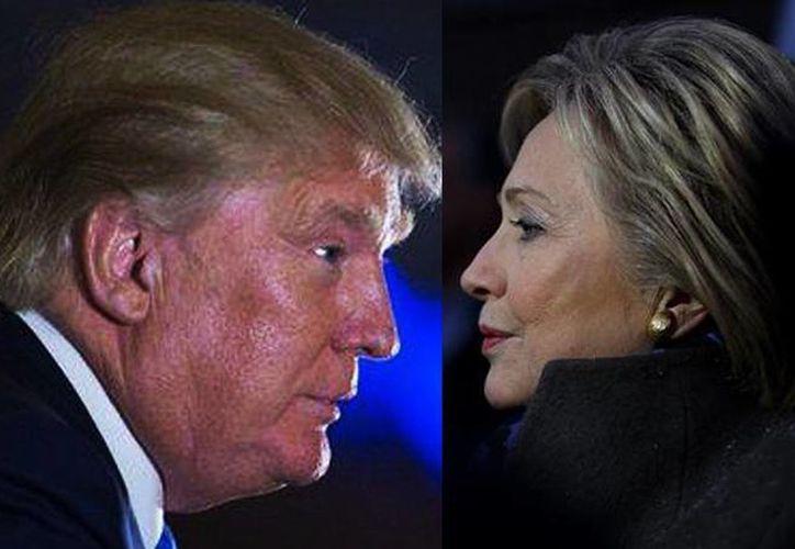 Los aspirantes a la Presidencia de Estados Unidos, Donald Trump e Hillary Clinton. (Foto especial)