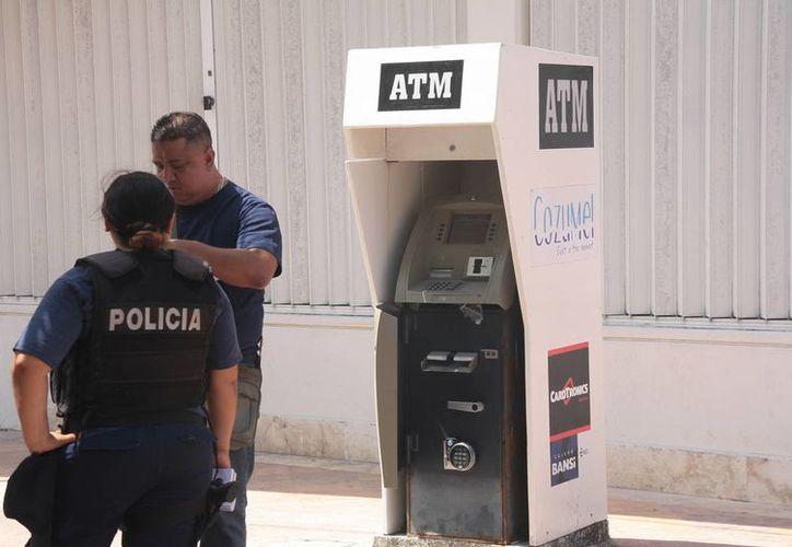 Los sospechosos lograron escapar antes de que llegue la policía.  (Julian Miranda/SIPSE)