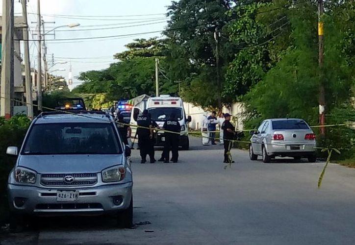 El cuerpo fue tirado atrás de la primaria Cobá, ubicada en la Región 102. (Eric Galindo/SIPSE)