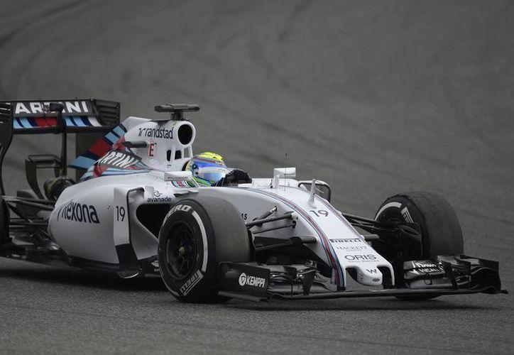 Felipe Massa, de la escudería Williams, consiguió el mejor registro de las cinco sesiones que se llevan realizadas en el circuito de Montmeló. (Foto: AP)