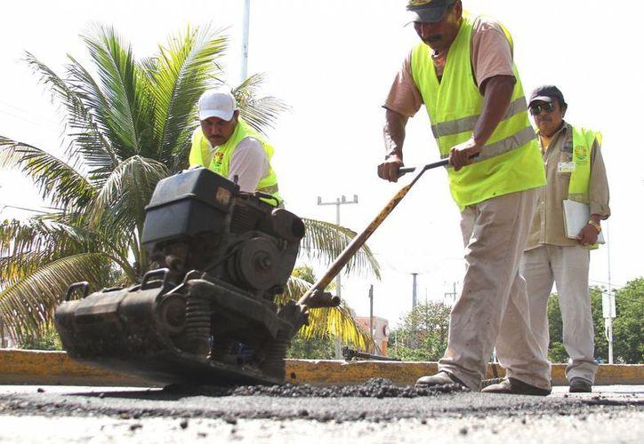Personal de la Secretaría de Obras Públicas y Servicios Municipales trabajaron en tres  turnos diferentes. (Cortesía/SIPSE)