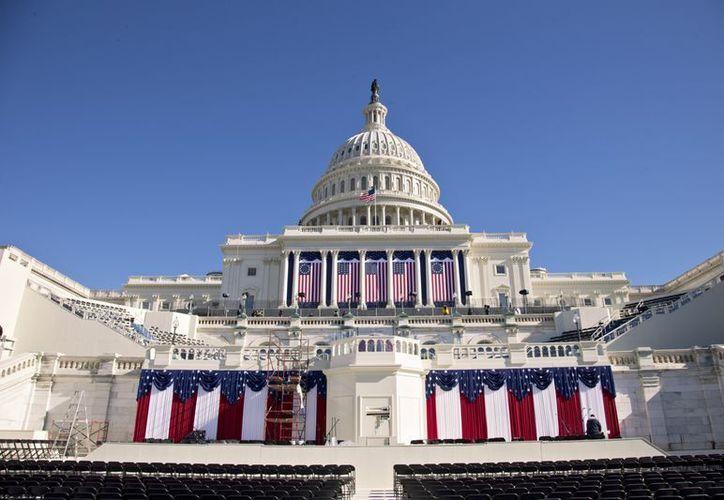 Todo se encuentra listo para la segunda juramentación de Obama en el Capitolio. (Agencias)