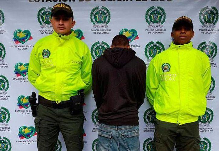 'Frijolito' es líder de la banda delictiva 'los del Ave' y se le relaciona con un doble homicidio ocurrido recientemente en un centro comercial de Cali. (Policía de Cali, Colombia)