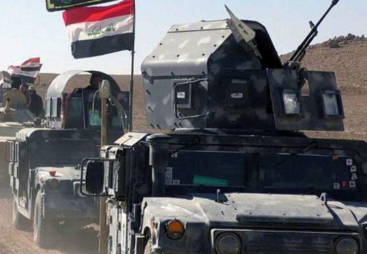 El Gobierno comenzó una investigación para identificar a las víctimas, probablemente ejecutadas. Imagen de contexto de un grupo de carro-tanques en la zona conflictiva de Mosul. (ANSA)