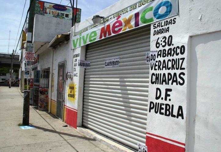 La agencia  clausurada se hacía llamar 'Vive México'. (Octavio Martínez)