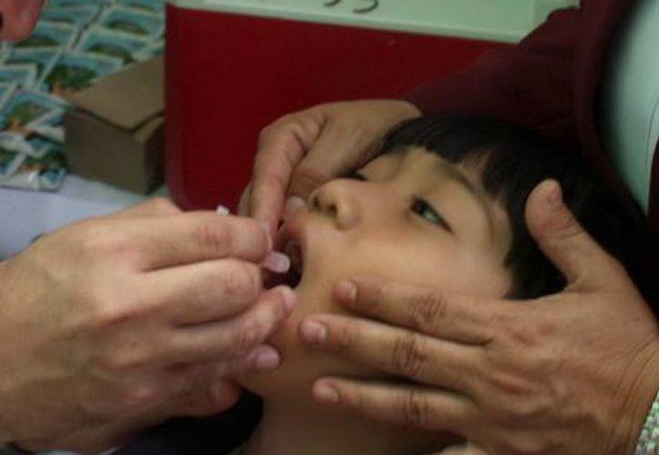 """""""¡Cuídalos mucho, quiérelos más: vacúnalos!"""" es el lema de este programa, cuya finalidad es proteger la salud de la población infantil. (Milenio Novedades)"""