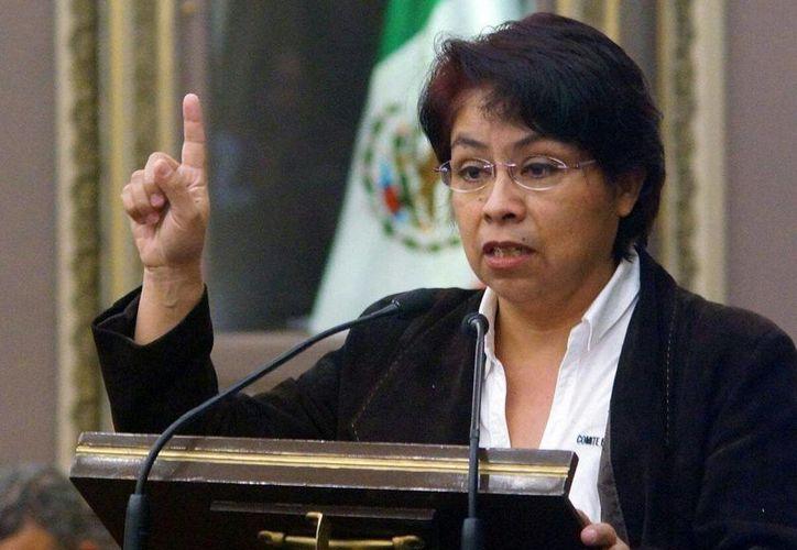 La dirigente estatal del PRD, María del Socorro Quezada, calificó de lamentable una posible alianza con el PAN. (Tomada de Facebook María del Socorro Quezada del Tiempo)