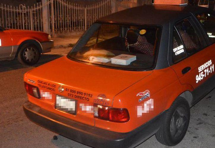 Imagen del lugar donde una pareja de personas intentó asaltar a un conductor de taxi en el sur de Mérida. (Milenio Novedades)