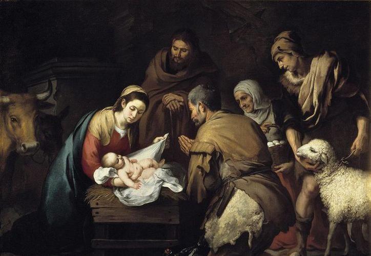 Réplica de la obra 'Adoración de los pastores', de Murillo, realizada en 1650. La original se encuentra en el Museo del Prado, en Madrid. (gloriamtuam.com)