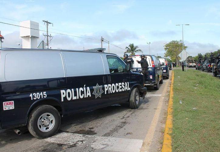 La Secretaría de Seguridad Pública dio informes sobre ex elementos que están bajo proceso. (Joel Zamora/SIPS)