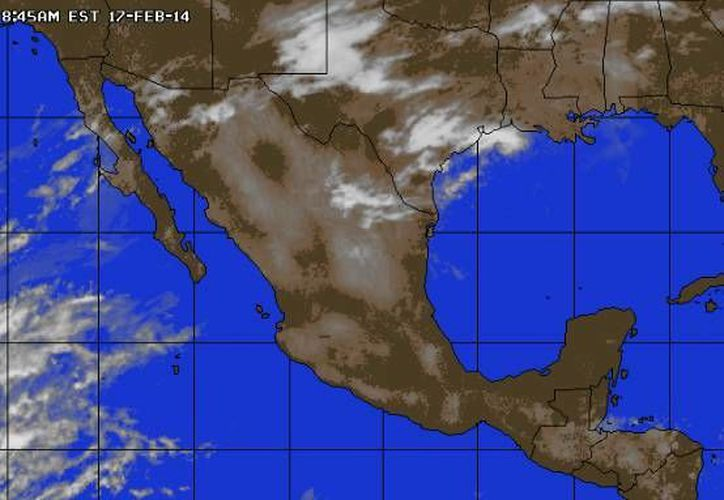 Continúa la entrada de aire marítimo tropical con poco contenido de humedad procedente del mar Caribe hacia la Península de Yucatán. (www.accuweather.com)