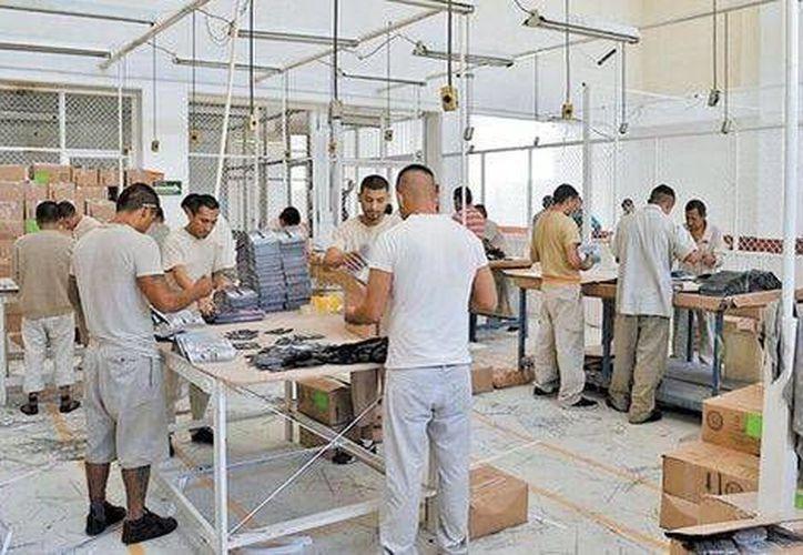Más de mil reos del DF trabajan jornadas de ocho horas y reciben un salario fijo por producir artículos para diversas empresas. (Milenio/especial)