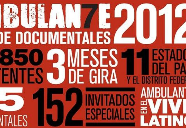 Cartel promocional de Ambulante Gira de Documentales. (Notimex)