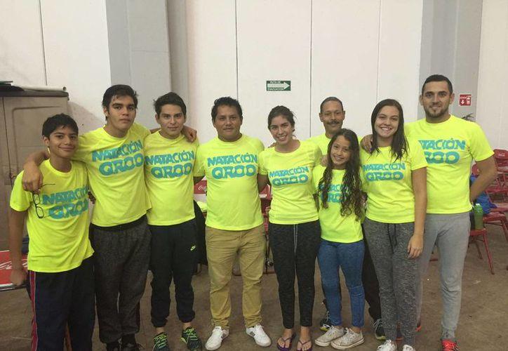 Parte de la delegación que participó en el campeonato nacional. (Raúl Caballero/SIPSE)
