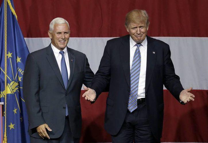 Donald Trump anunció que el gobernador de Indiana, Mike Pence, será su compañero de fórmula en la candidatura a la vicepresidencia de Estados Unidos. (AP)