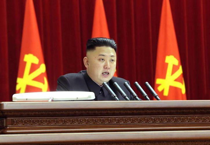 El gobernante norcoreano Kim Jong Un pronunció un discurso el pasado domingo. (Agencias)