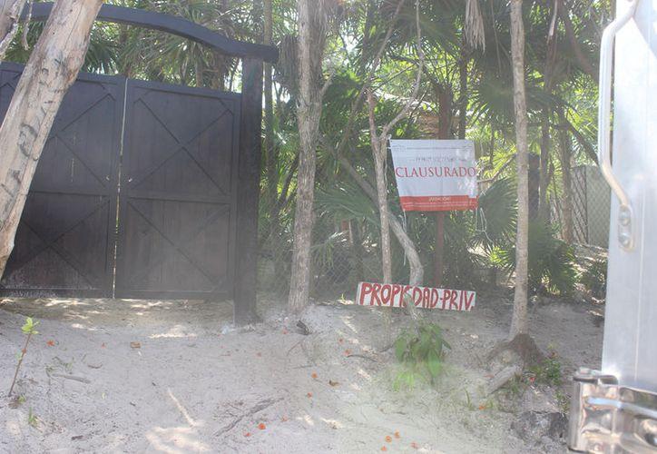 En marzo, la Profepa colocó sellos de clausura en estas instalaciones. (Sara Cauich/SIPSE)