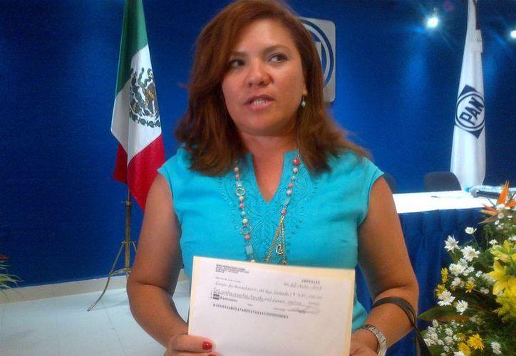 La senadora del PAN Rosa Adriana Díaz Lizama. (Milenio Novedades)
