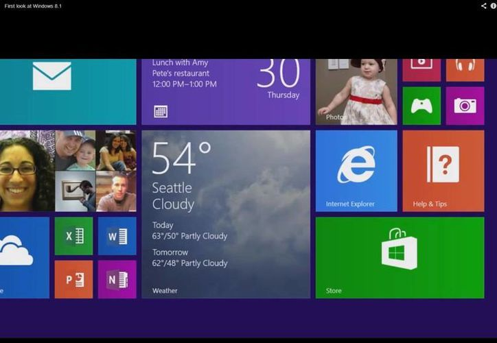 Windows 8.1 estará disponible en tabletas y computadoras de escritorio este año. (Youtube)