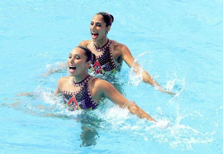 Nuria Diosdado y Karem Achach, hoy se llevaron el oro en dueto libre en Juegos Centroamericanos. (Conade)