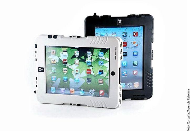 La iPad Tank Case fue calificada con estándares militares para resistir golpes, caídas, lluvia, vibraciones, arena y polvo. (Agencia Reforma)