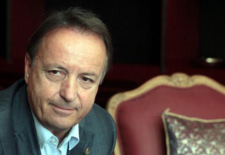 Jean Pierre Bel, presidente del Senado francés, durante su visita a México. (Agencia Reforma)