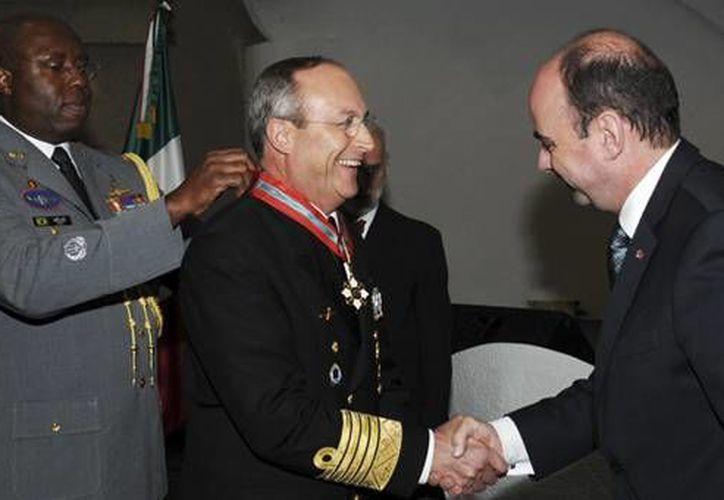 Soberón Sanz aseguró que la condecoración es un digno reconocimiento a los marinos mexicanos. (Secretaría de Marina)