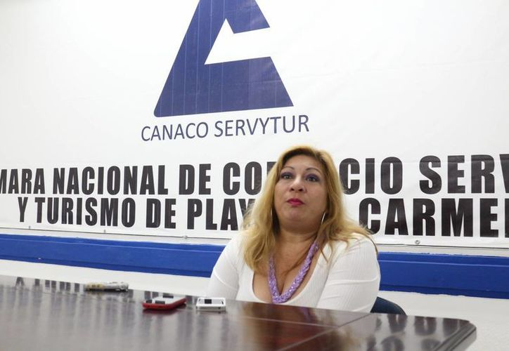 La vocera la Canaco local, Selena Contreras, indicó que este órgano empresarial se suma al pedido de mayor seguridad nacional. (Adrián Barreto/SIPSE)