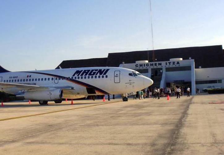 La construcción del Centro de Carga Aeroportuario de Valladolid tiene 50 por ciento de avance. (Milenio Novedades)
