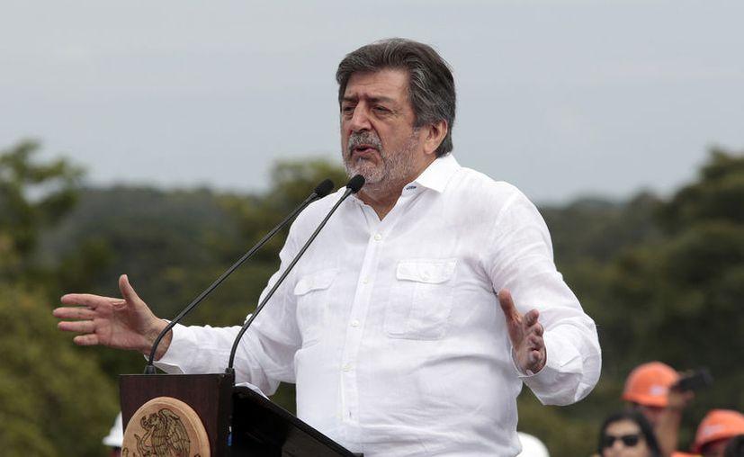 Rogelio Jiménez Pons en Palenque, Chiapas (Notimex/Arturo Monroy)