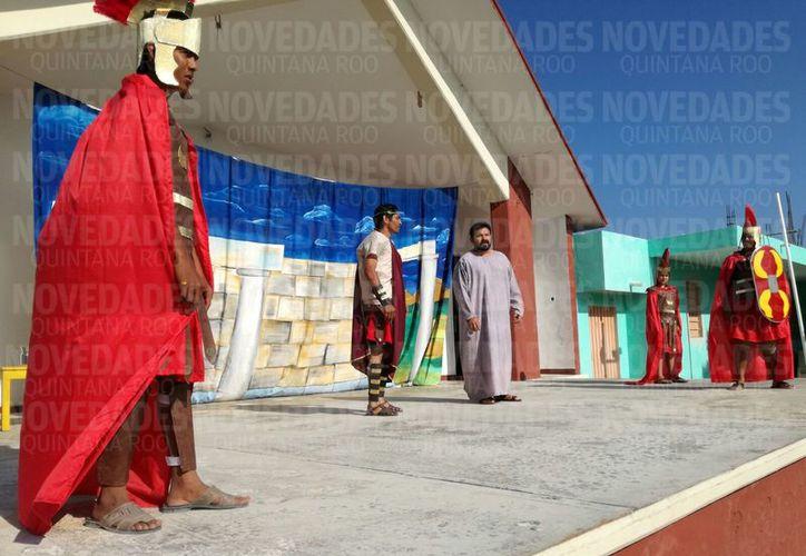 Inician las actividades de Viacrucis en el municipio de Othón P. Blanco. (Benjamín Pat/ SIPSE)