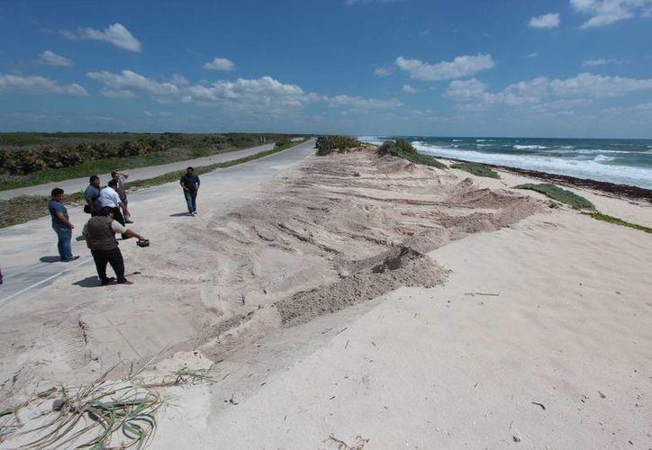La Zofemat estima que se extrajeron ilegalmente 500 metros cúbicos de arena de Punta Morena. (Gustavo Villegas/SIPSE)