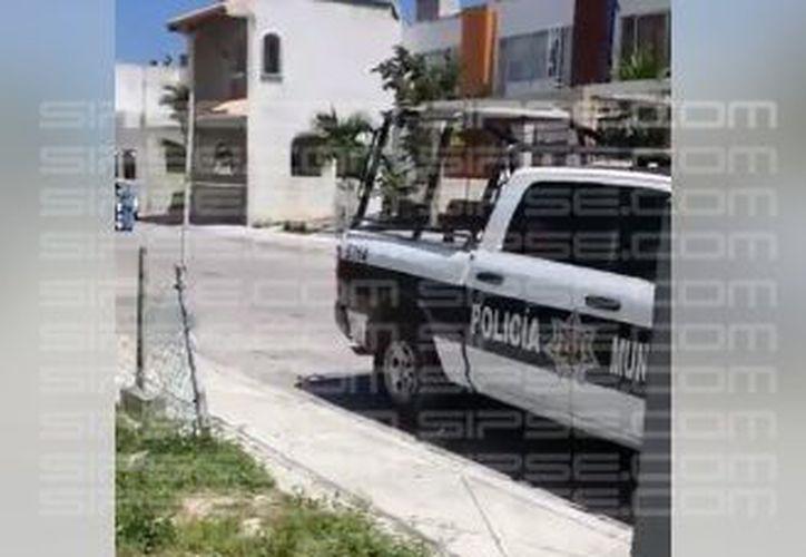 La zona fue acordonada por los Policías Municipales. (Orville Peralta/ SIPSE)