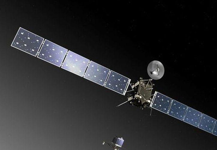 La sonda espacial se reunirá con el cometa los próximos meses y lanzará un vehículo en su helada superficie en noviembre. (Agencias)