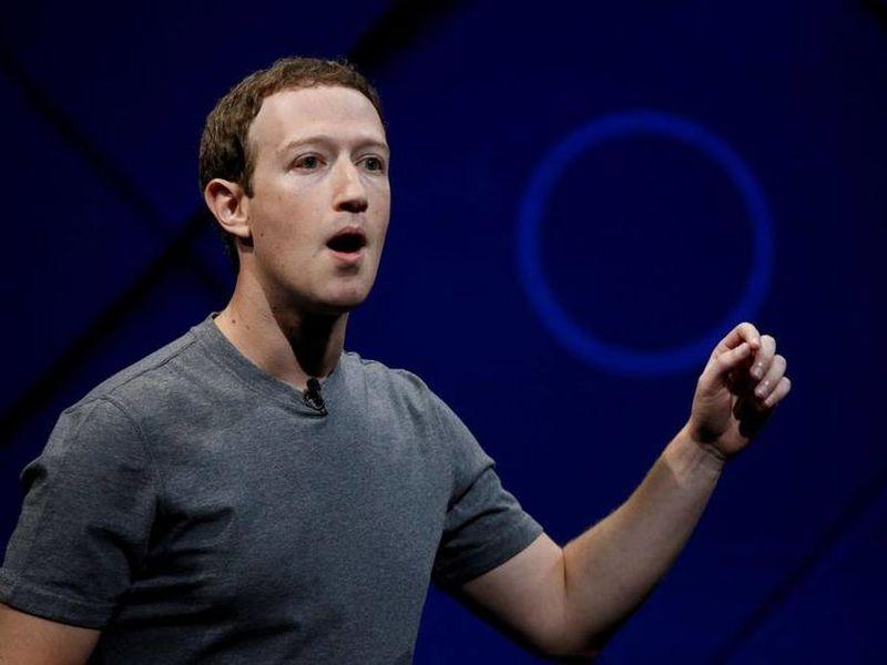 Facebook CEO Mark Zuckerberg makes the keynote speech at F8, the Facebook's developer conference.
