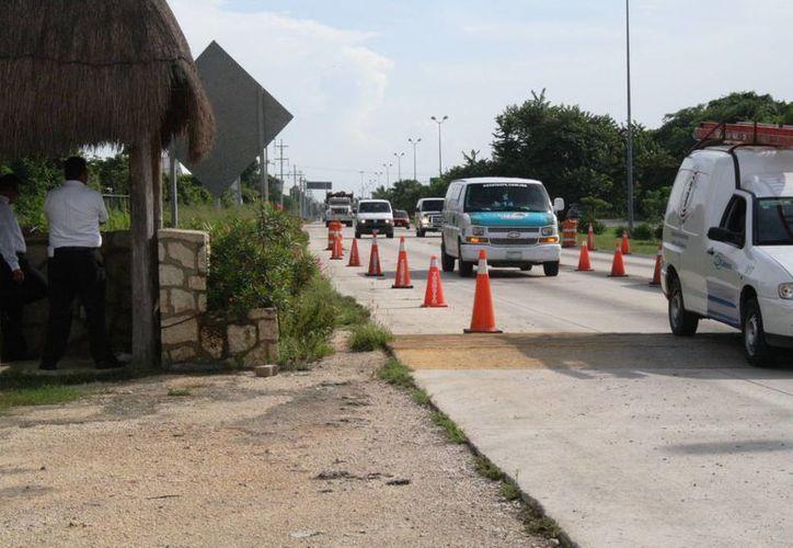 Inspección causa molestia entre transportistas al ser trasladados al corralón. (Loana Segovia/SIPSE)