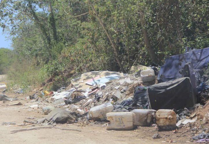Los basureros clandestinos ubicados cerca de poblados derivan de la falta del servicio de recoja de basura. (Harold Alcocer/SIPSE)