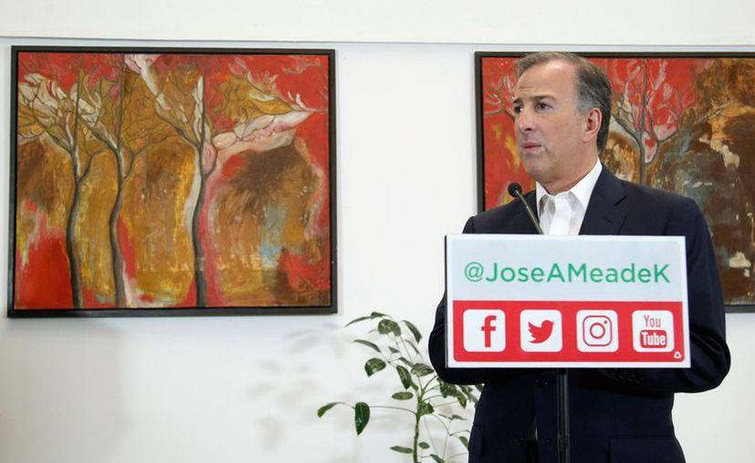 El candidato de la Coalición Todos por México, José Antonio Meade sube dos puntos en las encuestas y se coloca en segundo lugar. (Foto: Notimex)