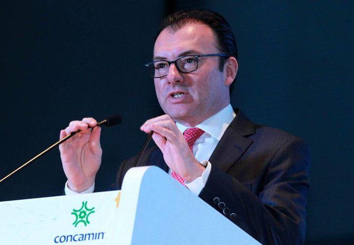 Luis Videgaray afirma que el gobierno federal seguirá abonando a la estabilidad de las finanzas públicas. (Notimex)