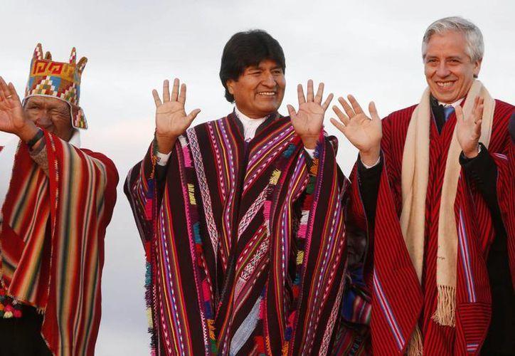 Evo Morales es el primer presidente indígena en la historia boliviana. Este miércoles, se convirtió en el hombre con mayor tiempo en el cargo. (AP)
