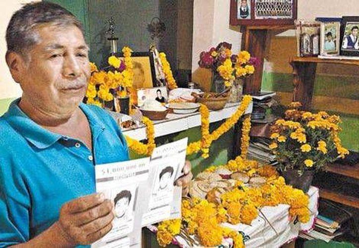 Floriberto Cruz es uno de los familiares de los estudiantes que fue a Los Pinos, donde expuso el caso de su nieto al Presidente. (Sael Bravo/Milenio)