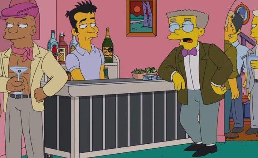 Smithers durante una fiesta gay organizada por Homero Simpson. (Imagen tomada de www.digitalspy.com)