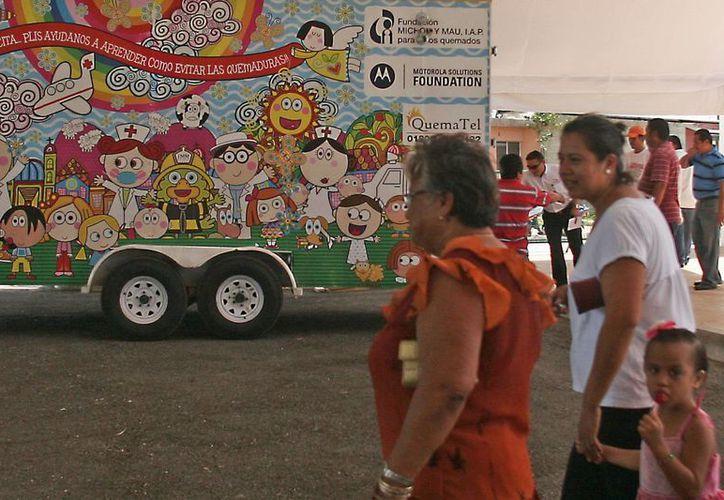 A través de un camión simulador se les mostrará a los niños los peligros a los que se exponen en el hogar. (Harold Alcocer/SIPSE)