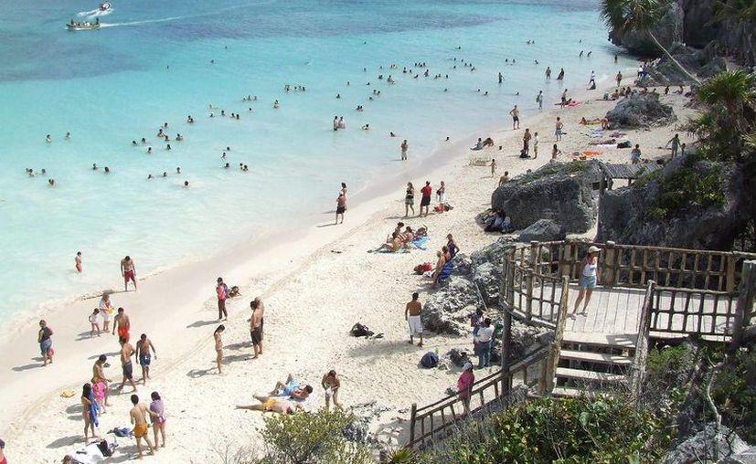 Tulum recibió el premio de los WTA por tener las mejores playas. (Adrián Barreto/SIPSE)