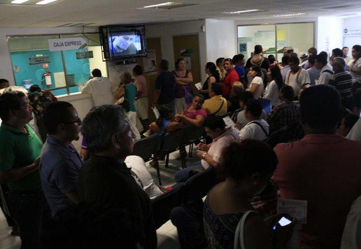 Ciudadanos se quejan de la excesiva burocracia que se registra en las oficinas centrales de la Dirección de Tránsito de Chetumal. (Harold Alcocer/SIPSE)