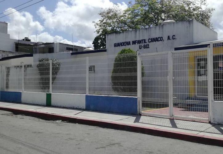 Al llegar los empleados, se percataron del robo en la guardería de la Canaco. (Foto: Redacción/SIPSE)